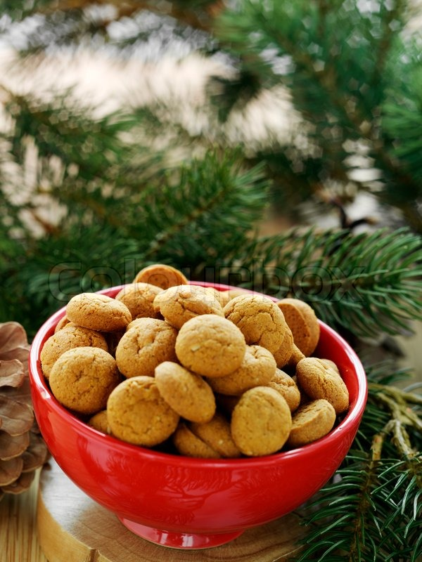 Stock image of 'Traditional danish Christmas cookies on a bowl'