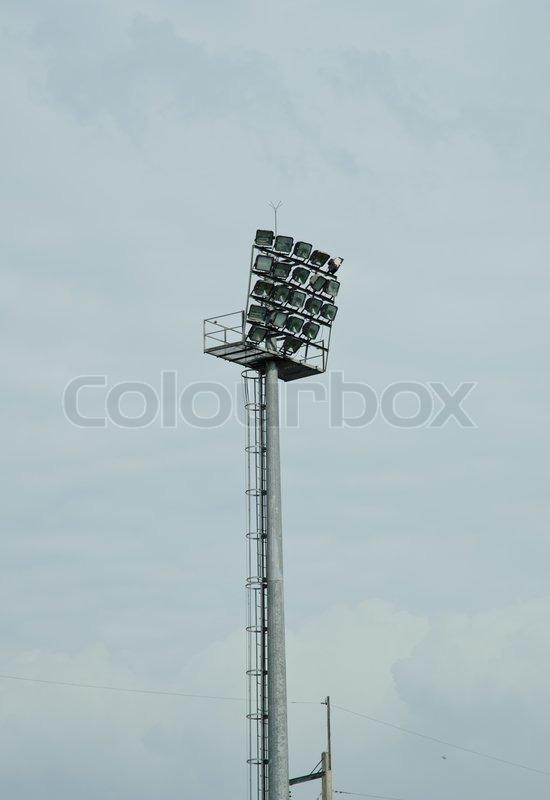Light pole,or Spotlight, stock photo