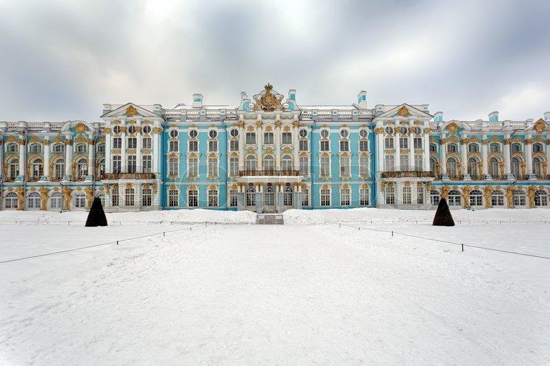 Ekaterinesky Vinterpaladset Pushkin Stock Foto Colourbox