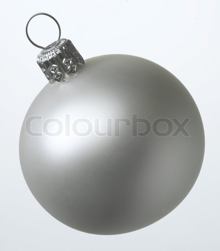 Stock image of 'Close up image of Christmas decoration in silver'