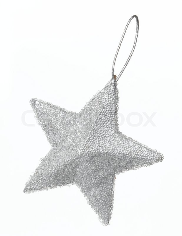 Stock image of 'Christmas decoration - a silver star'