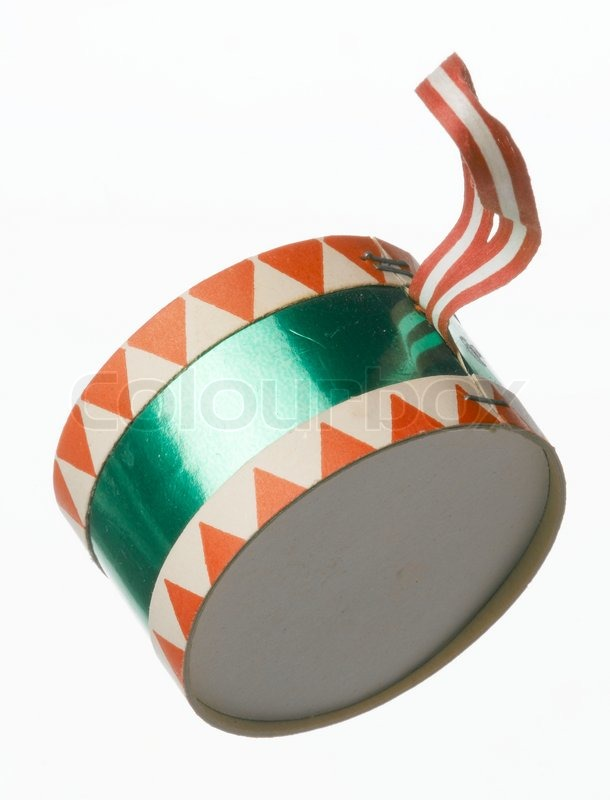 weihnachtsschmuck papier trommel stockfoto colourbox. Black Bedroom Furniture Sets. Home Design Ideas