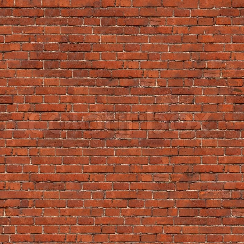 Dark Red Brick Wall Texture Grunge Seamless Tileable Stock Photo
