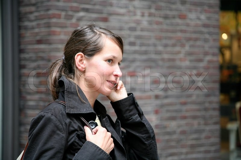 Stock image of 'call, female, talking'