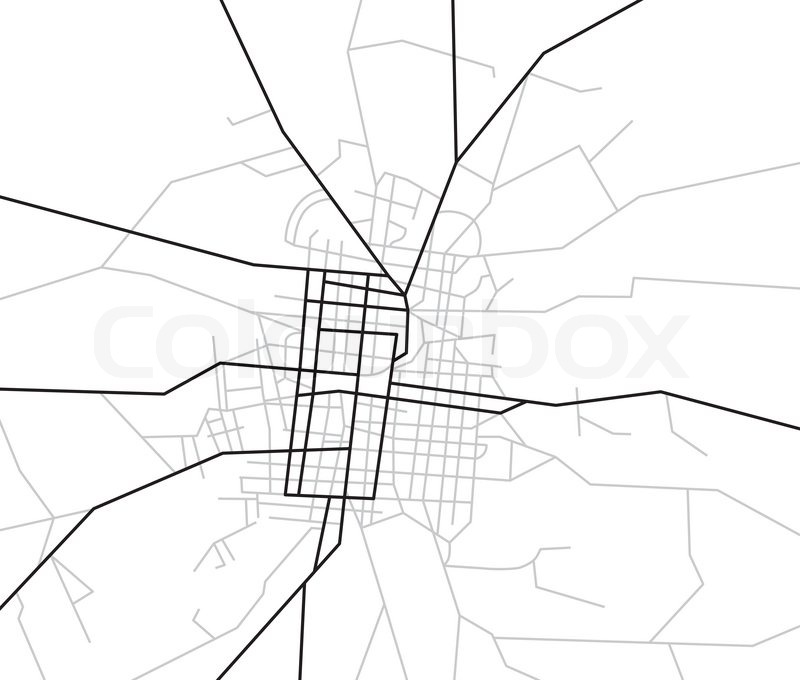 Scheme of streets -city map | Stock image | Colourbox on