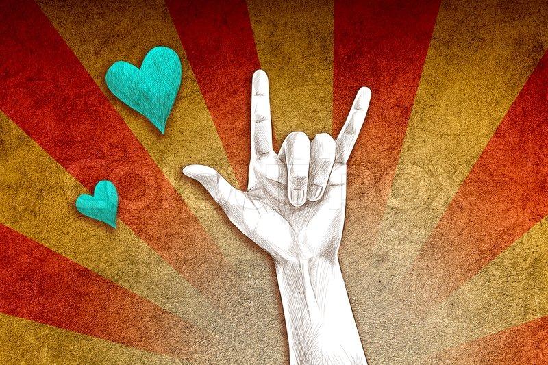 Liebe Handzeichen | Stockfoto | Colourbox
