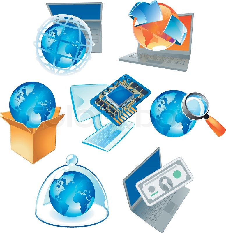 Concepts for computer technology, IT solutions and worldwide business. Vector illustration, vector