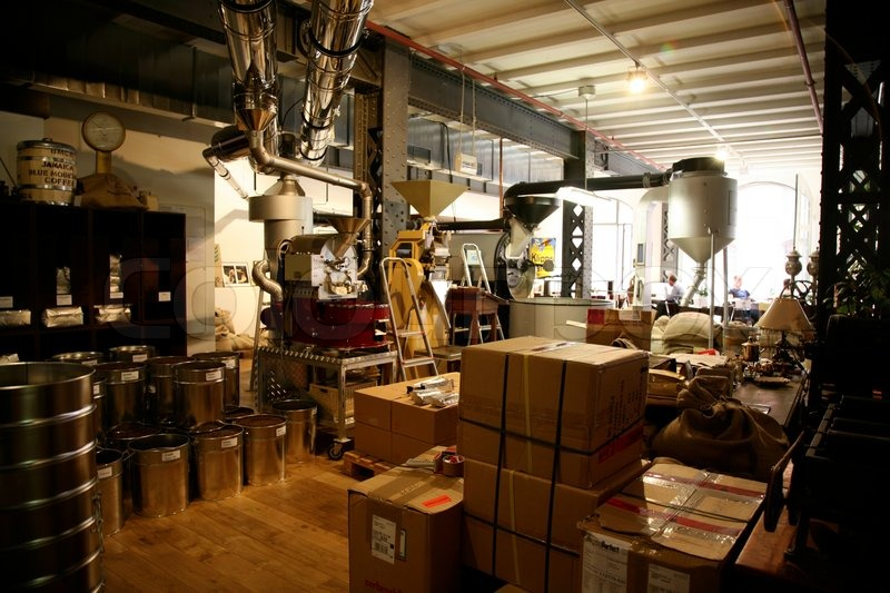 Inside A Coffee Factory Stock Image Colourbox