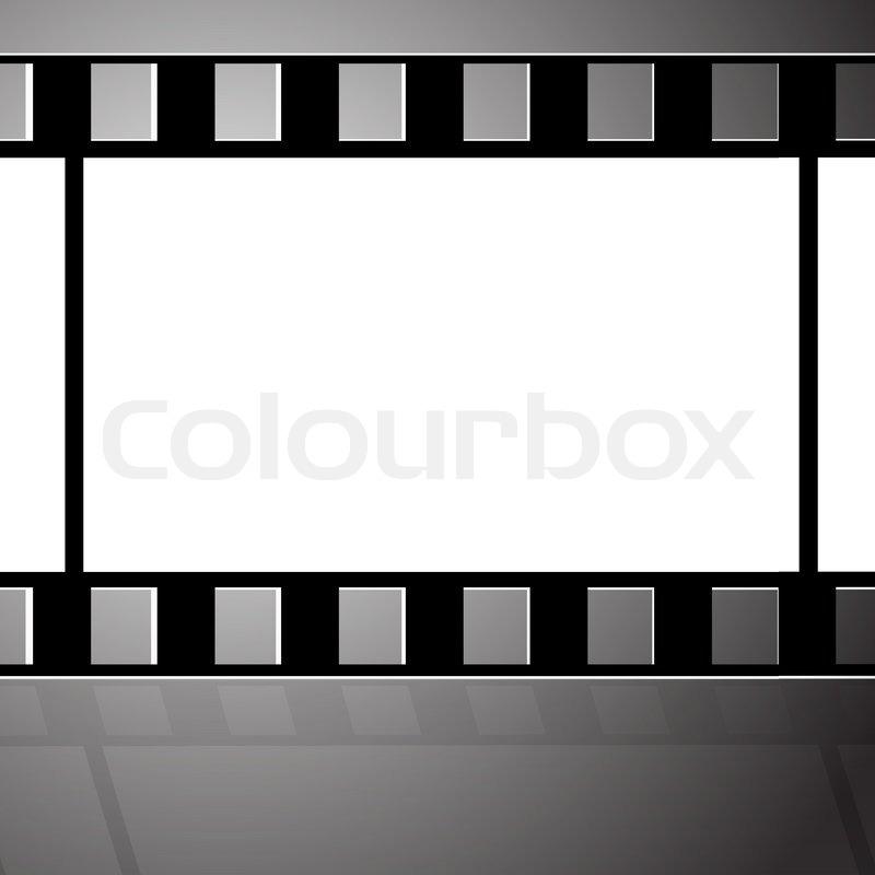 Old filmstrip Movie ending frame | Stock Vector | Colourbox