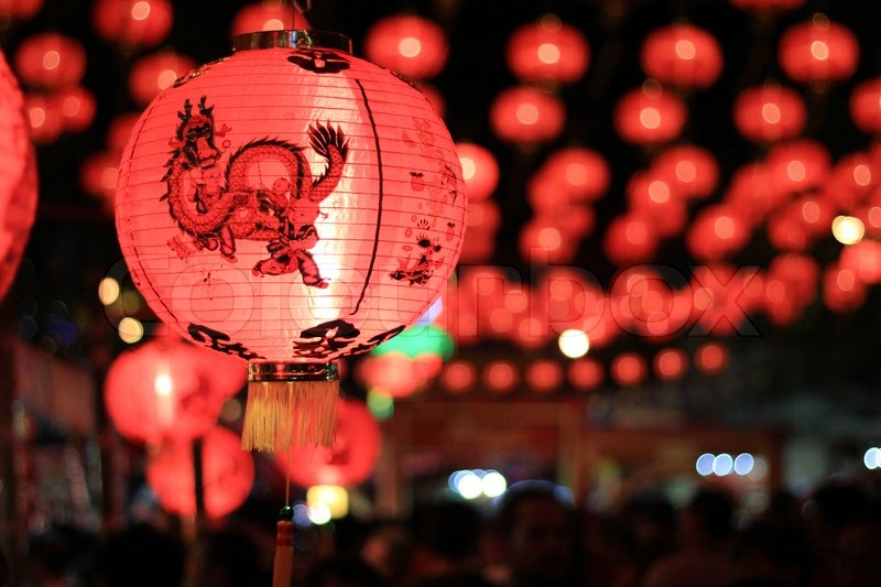 Chinese new year Licht no6 | Stockfoto | Colourbox