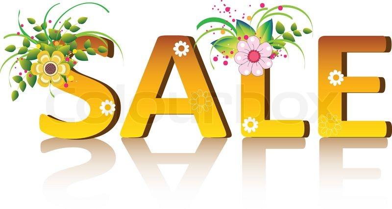 vector sale poster design template stock vector colourbox