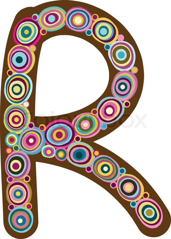Beautiful Letter R