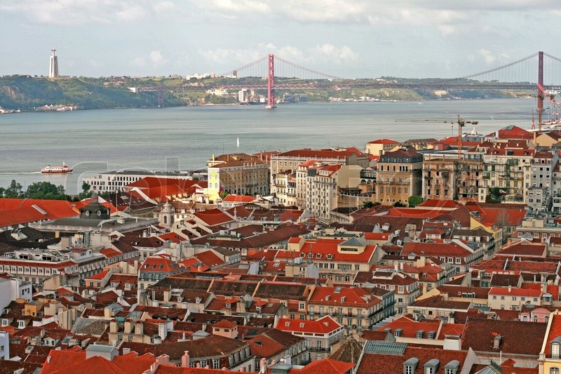 Lisbon One Of The Oldest Cities In The World Stock
