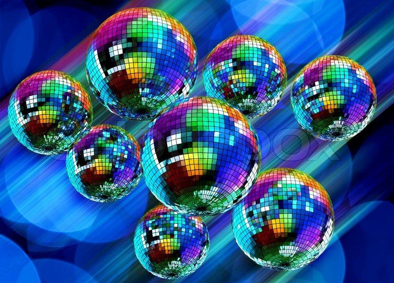 Bunte funky hintergrund mit spiegel disco kugeln for Spiegel hintergrund