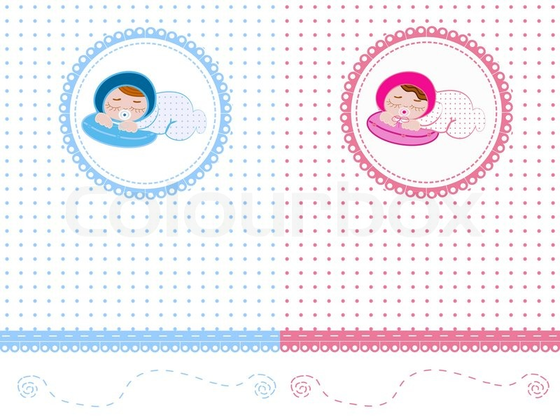 collection cards for newborn stock vector colourbox