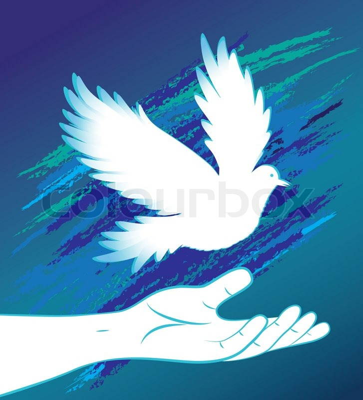 Dove bird peace sign - photo#7