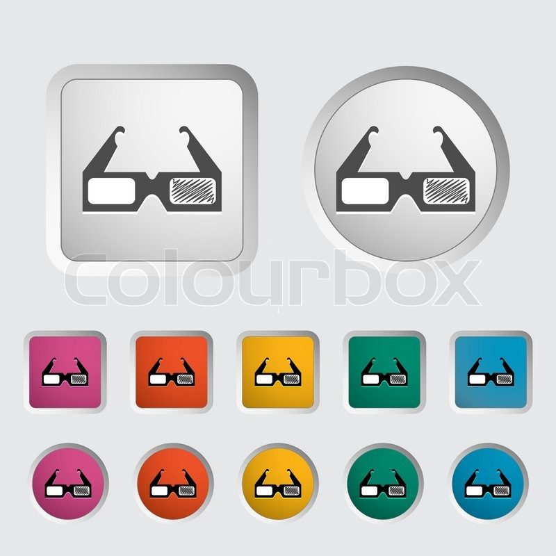 3d Human Icon Vector 3d Glasses Single Icon Vector