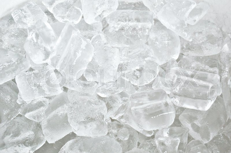 White clear ice cube background | Stock Photo | Colourbox