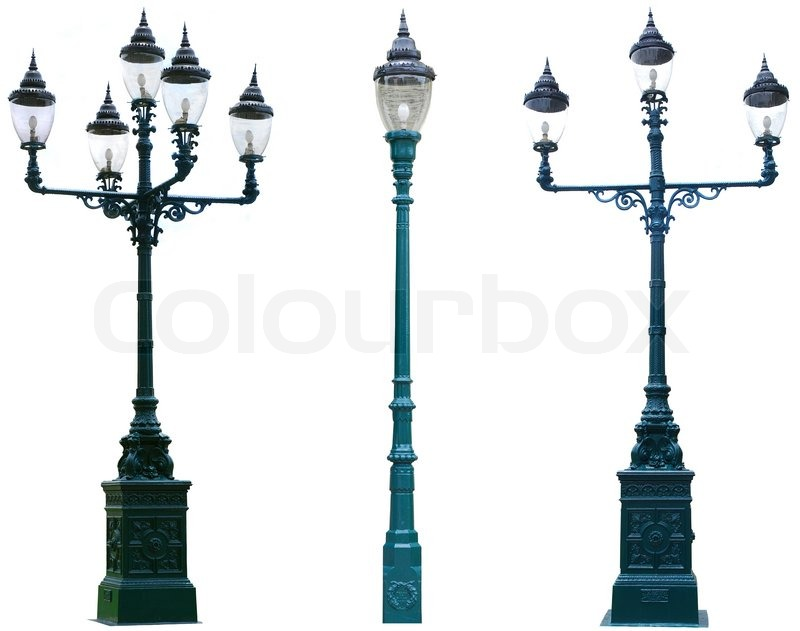 Isolated antique lamp post lamppost street road light pole stock isolated antique lamp post lamppost street road light pole stock photo colourbox mozeypictures Images