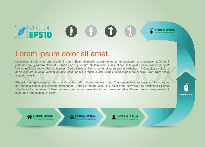 Infographic Ideas infographic template education : Vector business concepts with icons / can use for infographic/loop ...