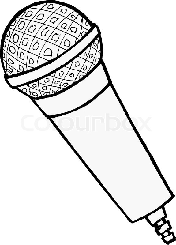 Microphone Coloring Page