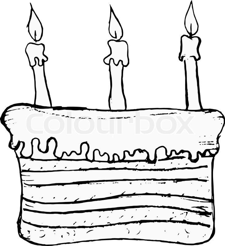 Geburtstagskuchen gezeichnet