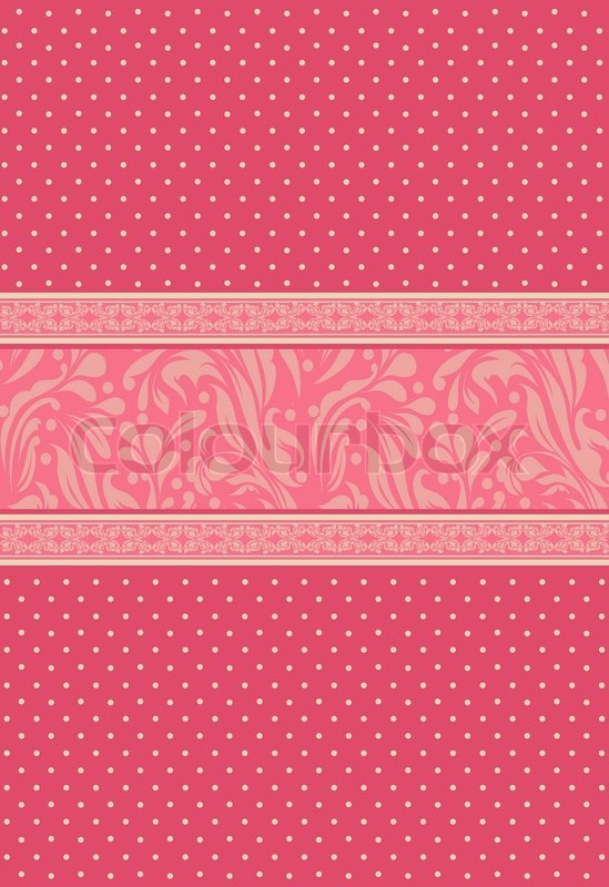 Vintage Background For Invitation Card Stock Photo Colourbox