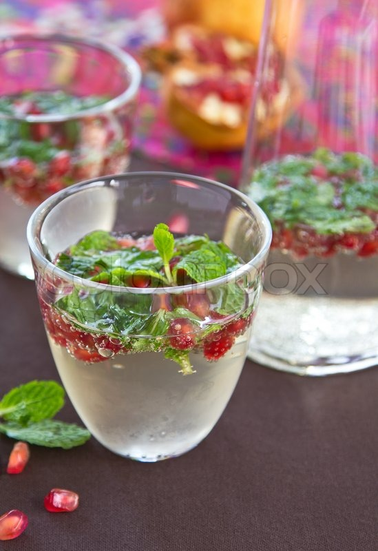Stock image of 'Pomegranate mojito'