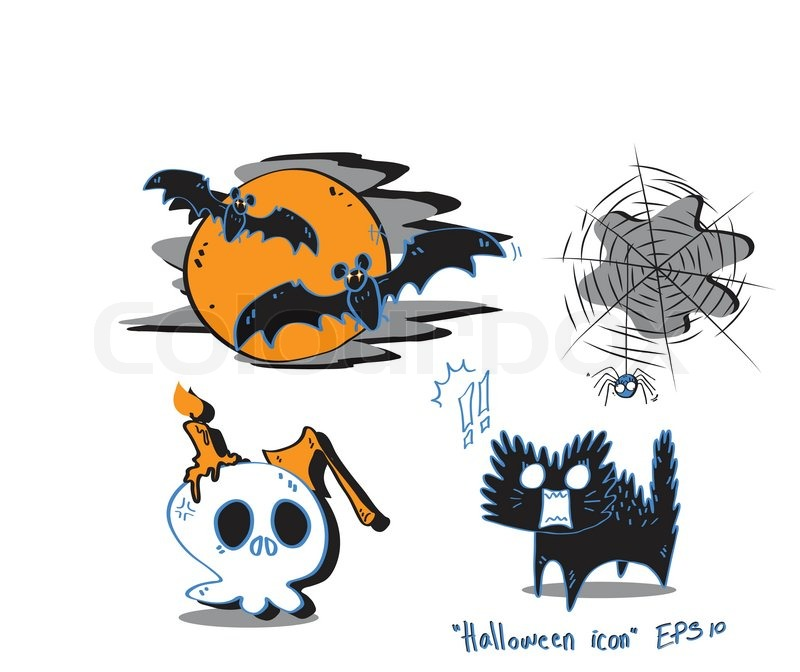 Halloween cartoon, vector icon | Stock Vector | Colourbox