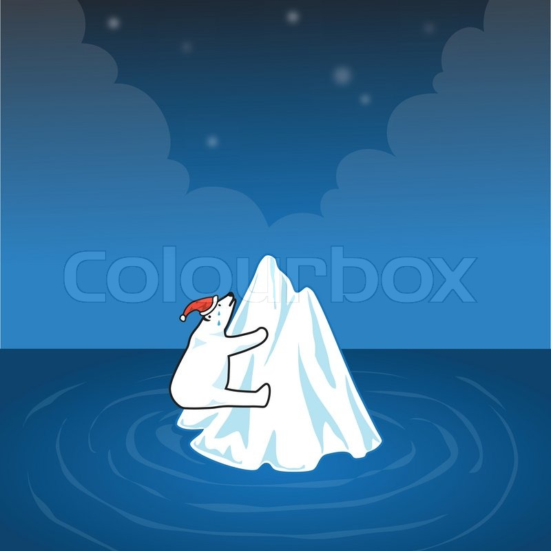 6155007-polar-bear-on-small-iceberg-in-c