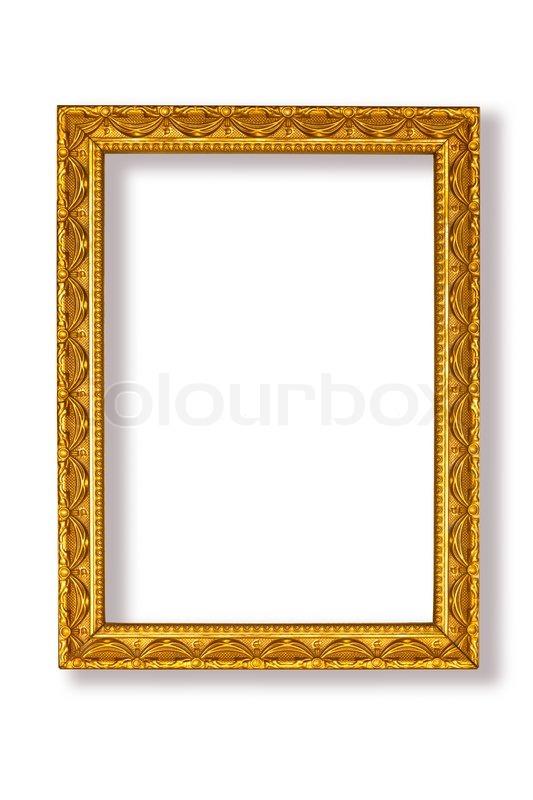 Golden Frame On White Background Stock Photo Colourbox