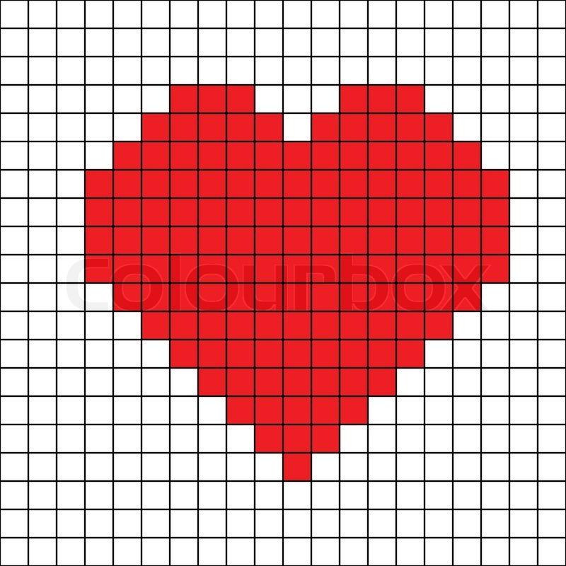 Cross stitch heart | Stock Vector | Colourbox