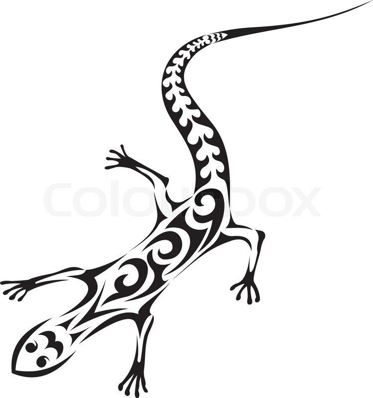tribal lizard tattoo stock vector colourbox. Black Bedroom Furniture Sets. Home Design Ideas