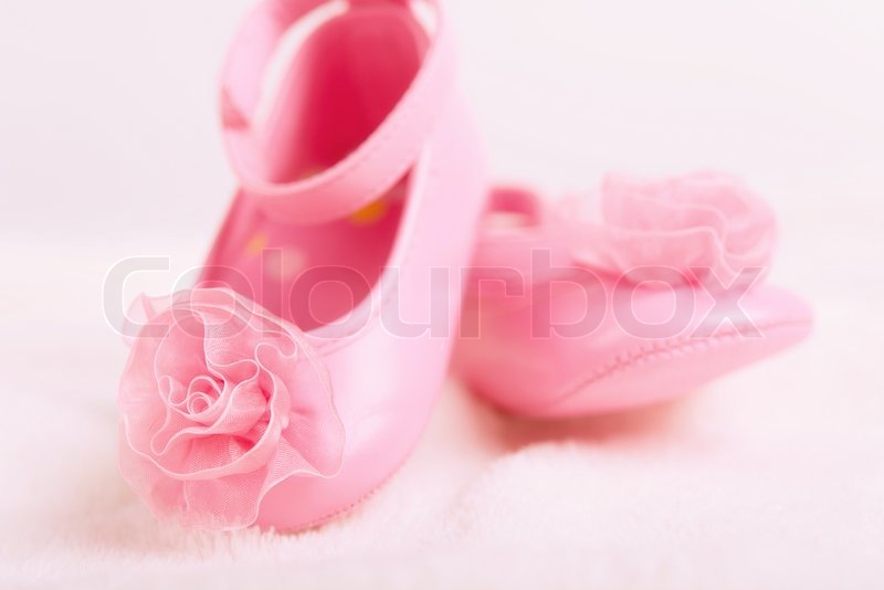 af529e1546c Baby støvletter sko med roset til ... | Stock foto | Colourbox