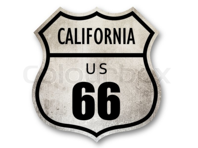 Rusted Route 66 Sign With Embossed Letters Stock Photo Colourbox