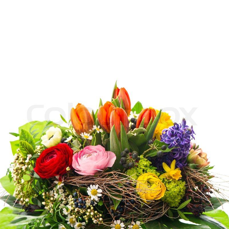 Strauß bunter Frühlingsblumen | Stock Bild | Colourbox