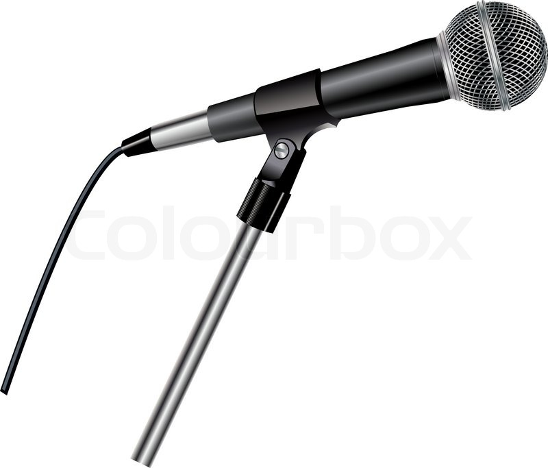 Line Art Microphone : Microphone stock vector colourbox