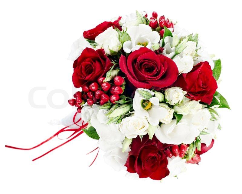 Blume Hochzeitsstrauss Aus Weissen Und Stockfoto Colourbox