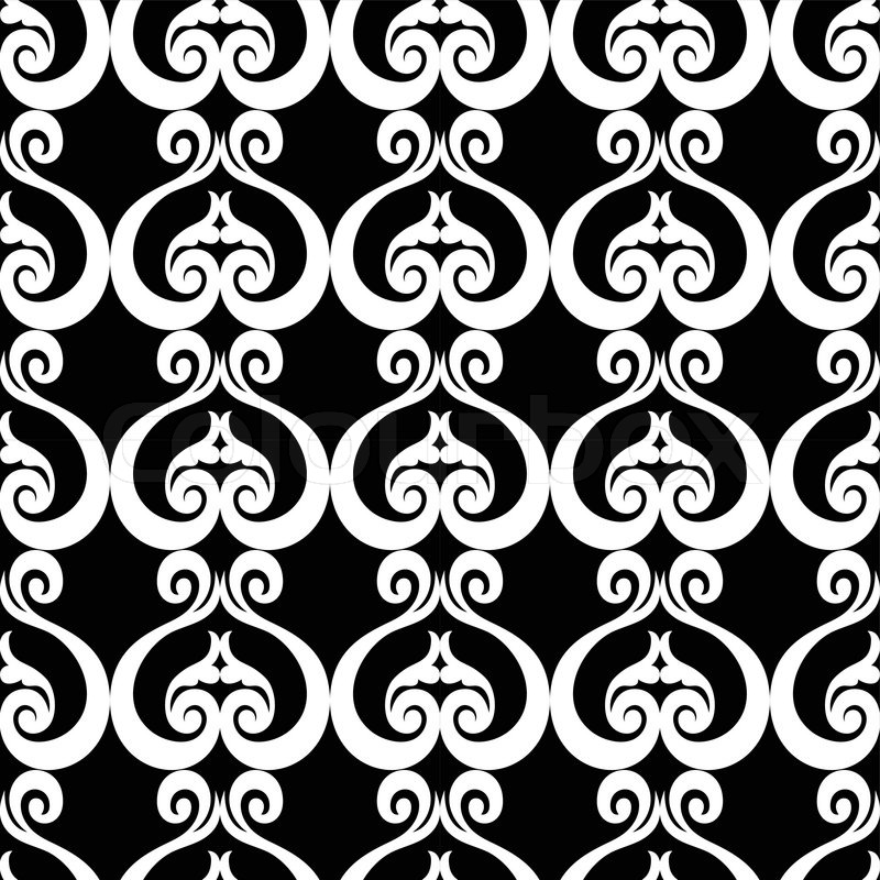 Black Graphic Background Abstract Backgrounds Damask Ornament Black And White Seamless Pattern
