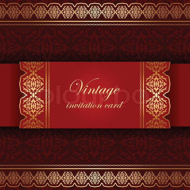 Vintage Ethnic Background Beautiful Greeting Invitation
