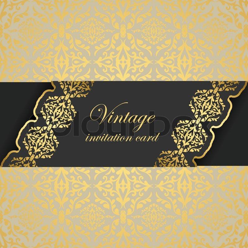 vintage eleganten hintergrund , schöne begrüßung, einladung mit, Einladung