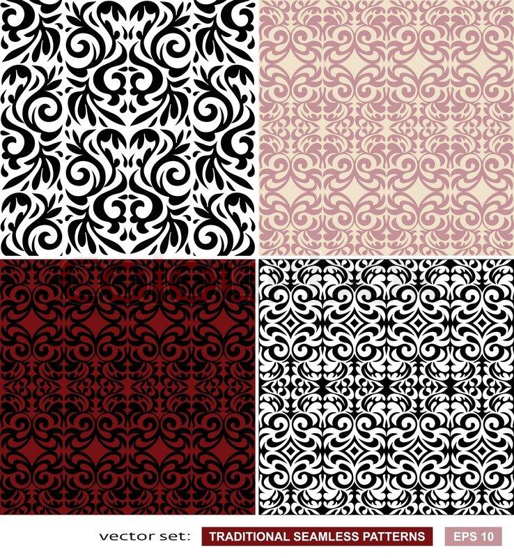 vintage hintergr nde klassische ornament sch ne nahtlose muster vektor wallpaper floral. Black Bedroom Furniture Sets. Home Design Ideas