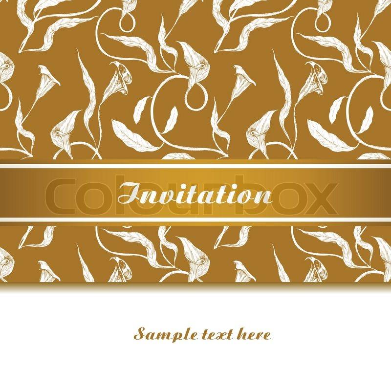 Weinlese  Schöne Einladung , Grußkarte Mit Ornamenten, Kreative  Template Design Für Glückwünsche , Feier, Hochzeit Und Jubiläum |  Vektorgrafik | Colourbox