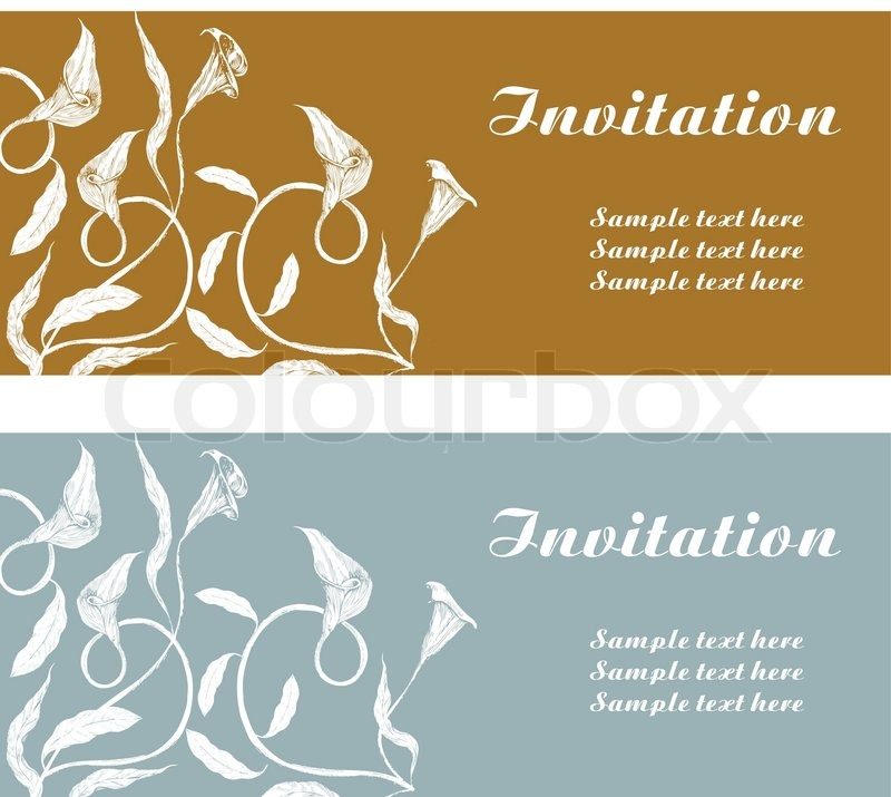 Vintage Background Invitation Card Stock Vector