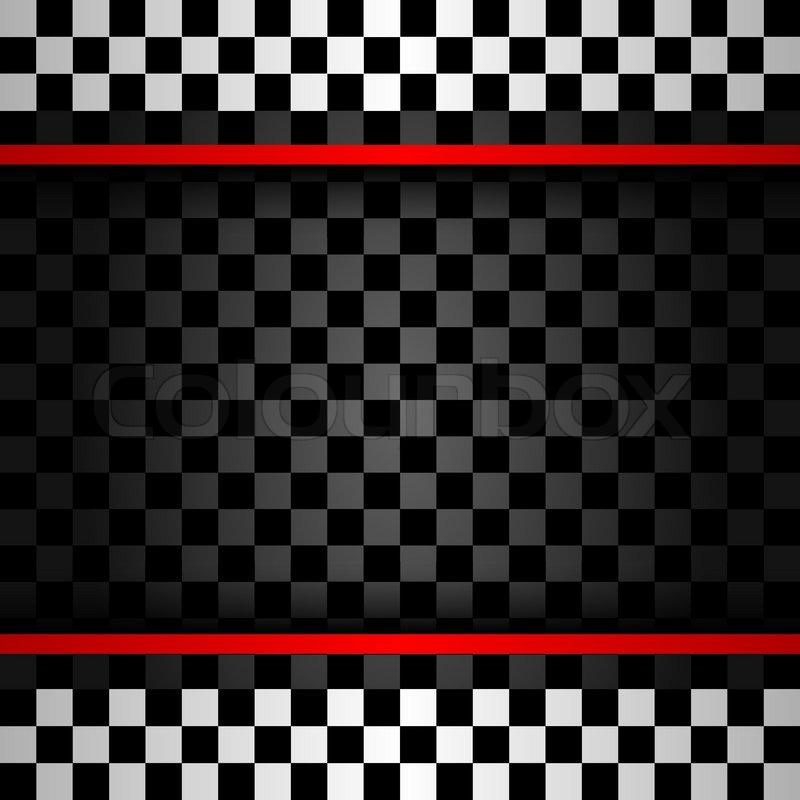 Racing Square Backdrop, Vector Illustration 10eps