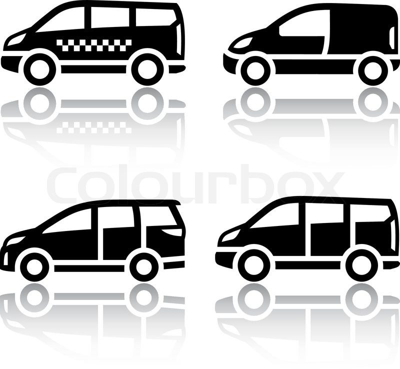 Set transport icons - Cargo van, | Stock-Vektor | Colourbox