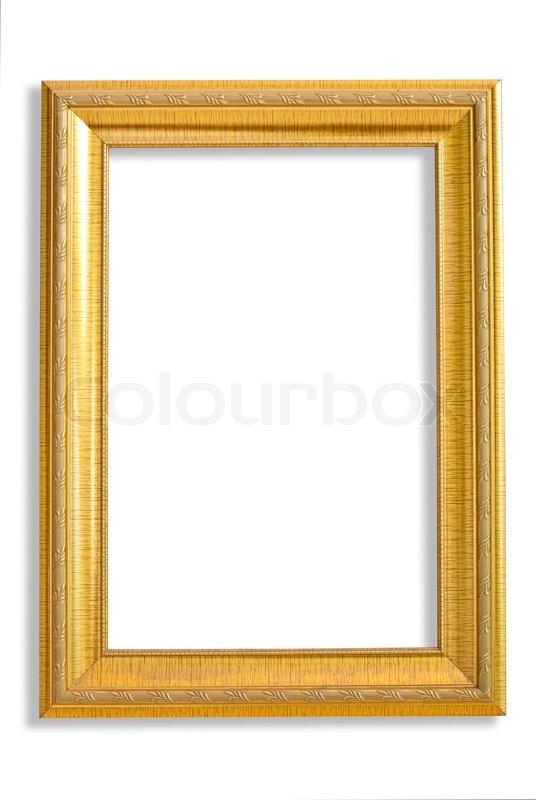 d31667847a36 Golden frame on white background