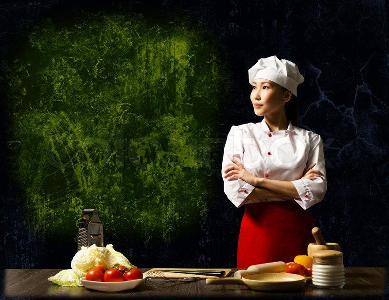 female chef Asian