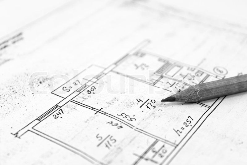 detailed architectural plan  plans of building
