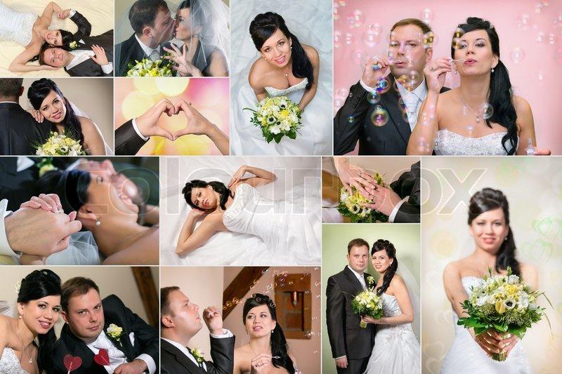 Wedding Collage Stock Photo Colourbox